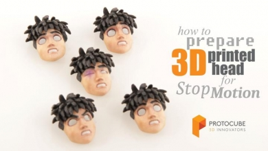Photo of Making of – stop motion animation: faceset in stampa 3D