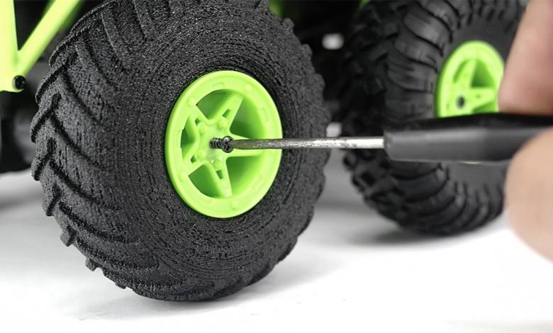 Photo of Il nuovo filamento TreeD, PNEUMATIQUE, realizzato in gomma riciclata da pneumatici