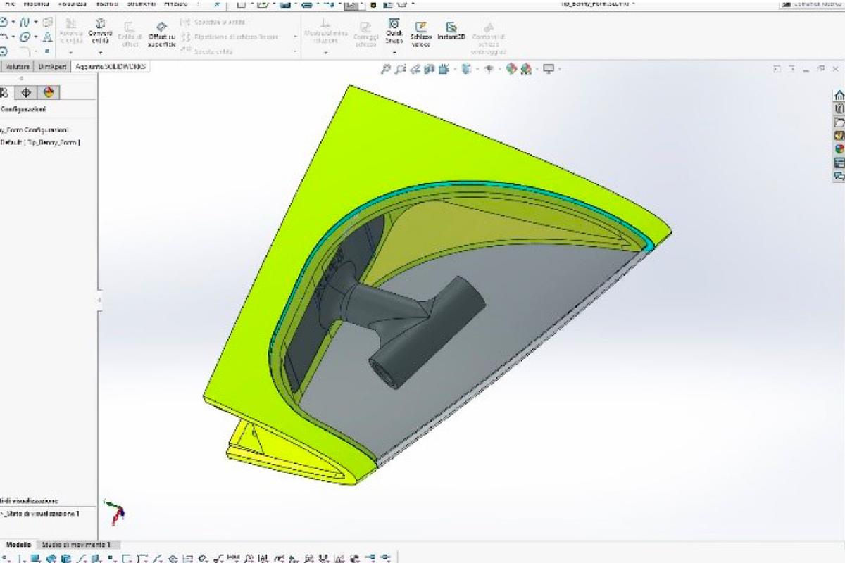 aereo progettato in 3D