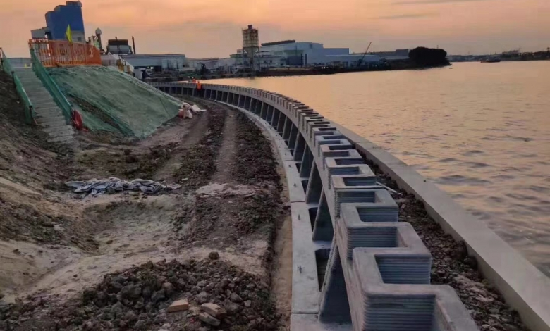 Photo of Winsun realizza il primo muro al mondo per la protezione dei fiumi stampato in 3D