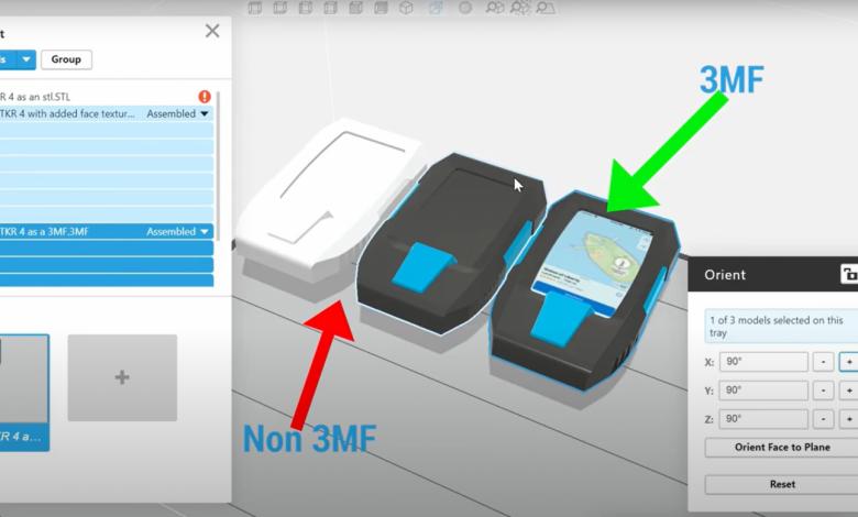 Photo of GrabCAD Print supporta l'importazione di file 3MF per colori e texture