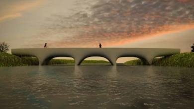 Photo of Il più lungo ponte pedonale in cemento stampato in 3D inizia a prendere forma a Nimega