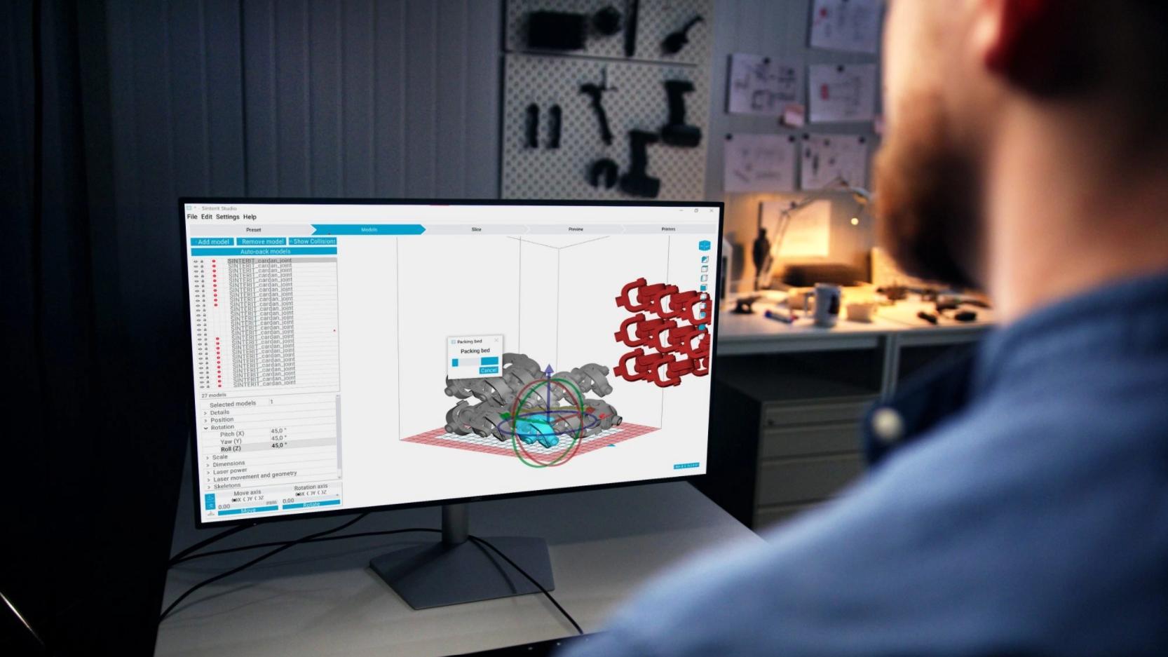 Sinterit aggiunge il nesting automatico al software di stampa SLS