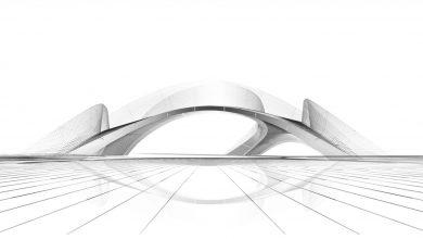 Photo of Ponte in muratura stampato in 3D Striatus costruito per la Biennale di Venezia